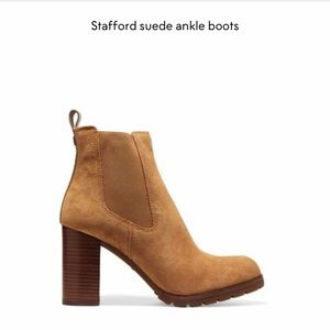 Tory Burch Stafford Suede Ankle boots (in Hazel)